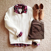 shoes,soes,pullover,sweater,shirt,pants,same,back to school,white pullover,red blouse,tumblr fashion,tumblr outfit,blogger,top,plaid,blouse,sweater weather,atumn,winter sweater,cardigan,shorts,jeans,white sweater,fall outfits,classic,preppy,fashion,spring 2015,spring