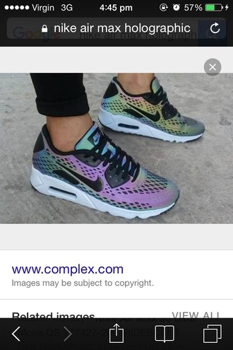 shoes nike nike shoes tumblr tumblr shoes air max holographic holographic shoes colorful nike tumblr rainbow