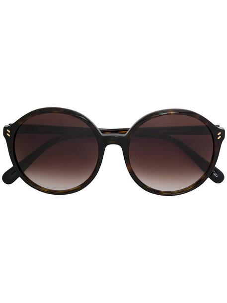 Stella Mccartney Eyewear - round frame sunglasses - women - Acetate - 56, Brown, Acetate