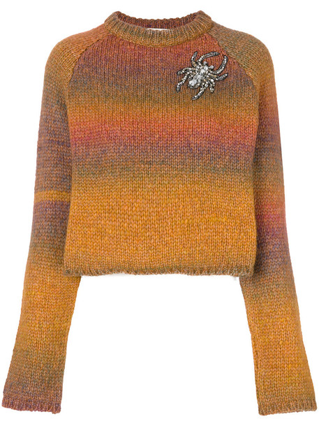 Giada Benincasa jumper women wool yellow orange sweater
