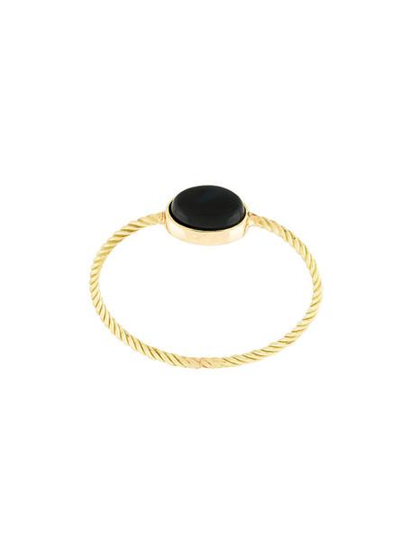 women tiger ring gold black grey metallic jewels