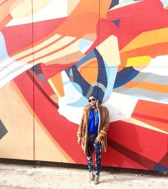jeans acid wash jeans silk blouse fur fur coat mink vintage gucci gucci shoes street art luxury love paris london new york city blue sunglasses sunglasses denim bleached bleach dyed skinny jeans streetwear fashion washington dc gold jewelry gold shoes blogger