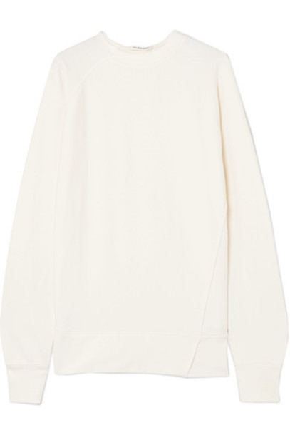 Helmut Lang sweatshirt cotton cream sweater