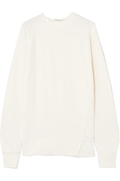 sweatshirt cotton cream sweater