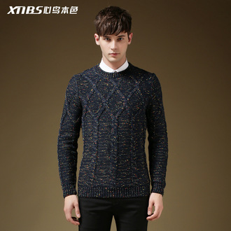 sweater mens sweater long sleeves round neck wool menswear knitted sweater mens cable knit jumper