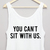 You Can't Sit With Us Cropped Tank » Free UK Delivery   10% Off