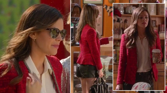 rachel bilson jacket heart of dixie red fashion tv series zoe heart love it