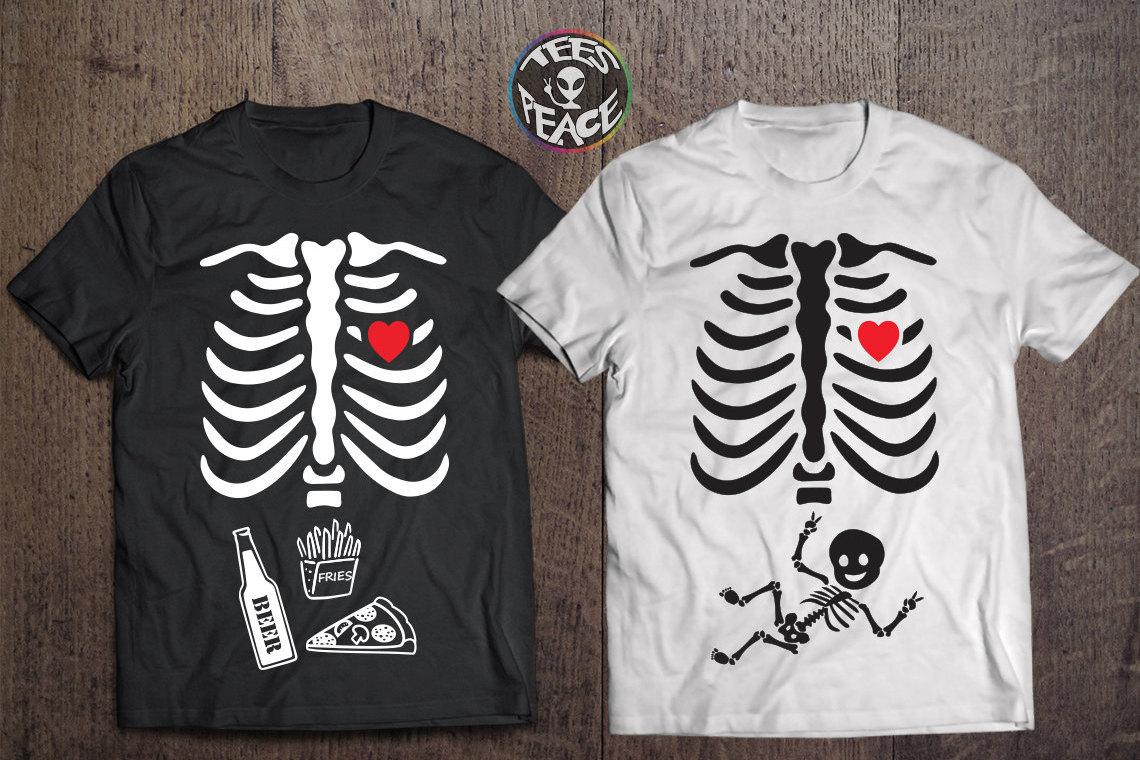 8ff366a5 Halloween baby tshirts, Matching couple shirts, Halloween maternity shirt,  Baby skeleton shirt, Pregnancy tshirt, Halloween tees, ...