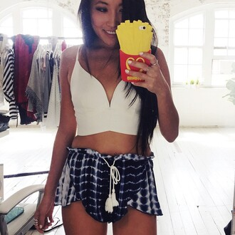 top clothes girly summer trendy cute boho tie dye shorts tank top hipster