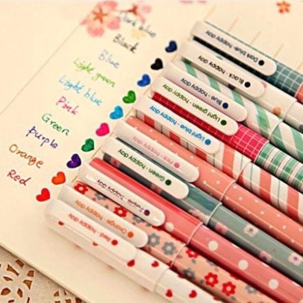 online shop 10 pcs lot new cute cartoon colorful gel pen set kawaii korean stationery creative gift school supplies free shipping 201 aliexpress mobile