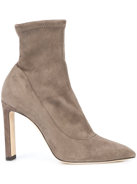 Jimmy Choo women leather suede grey shoes