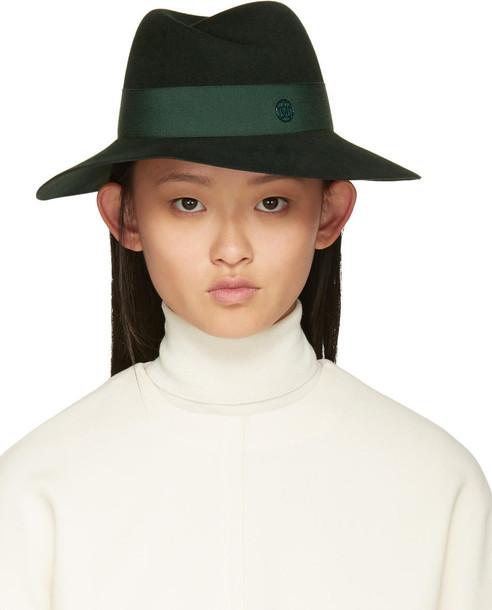 Maison Michel fedora green hat