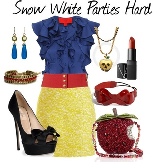 skirt snow white halloween
