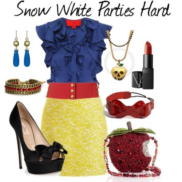 skirt snow white halloween bag