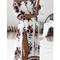 Fashion bateau off shoulder floral print dress - chicnico