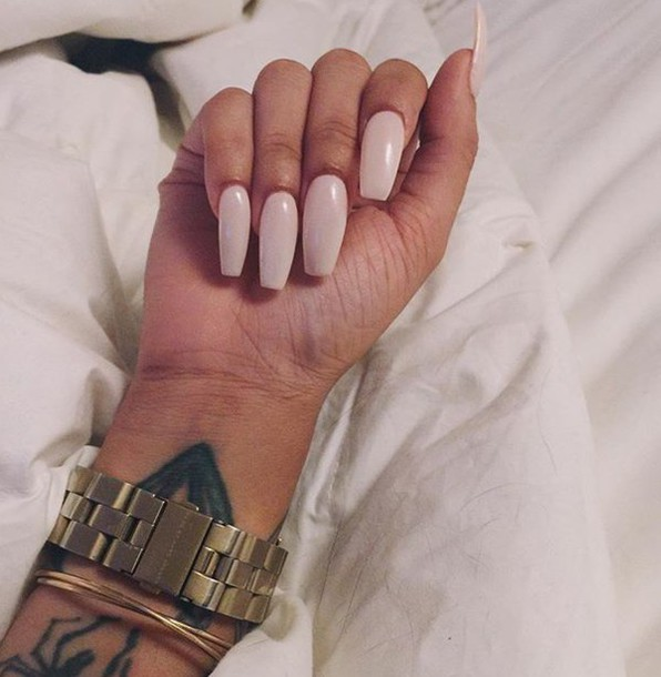 nail polish, pink, girly, tumblr, summer, cute, instagram, stiletto ...
