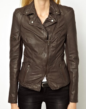 Muubaa | Muubaa Lyra Biker Jacket in Lamb Leather at ASOS