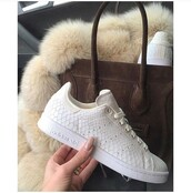 shoes,adidas shoes,adidas superstars,white,adidas,girly,grey,celine,celine bag,brown,fur,stan smith,nude