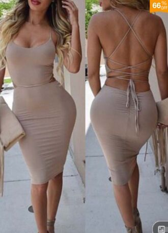 dress nude dress open back dresses tied up