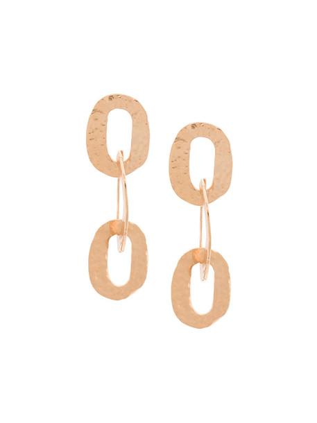 oscar de la renta women earrings gold yellow orange jewels