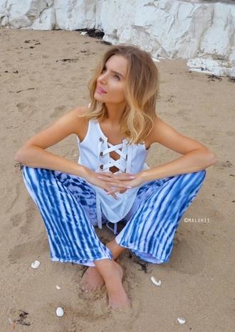 pants maluhii rose.   woodward stripes tie dye beach pants linen pants linen trousers nautical rose   woodward