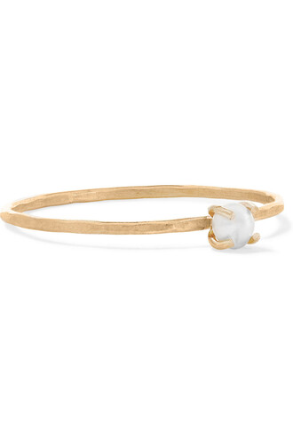pearl ring gold jewels