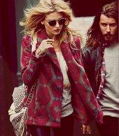 coat,kate moss,sunglasses