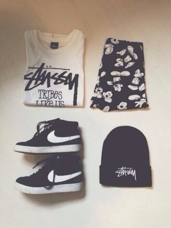 shorts top t-shirt mickey mouse nike hat skirt shoes shirt