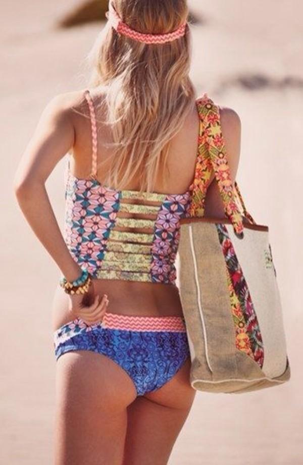 swimwear tank top floral bikini top