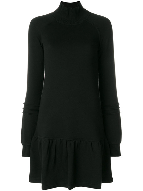 See by Chloe dress sweatshirt dress women cotton black
