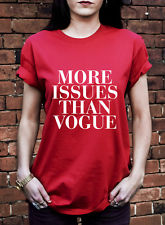 More Issues Than Vogue Tshirt Cara Delevingne Hipster Fashion T Shirt J0647 | eBay
