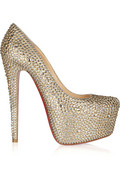 Christian Louboutin | Daffodile 160 crystal-embellished suede pumps | NET-A-PORTER.COM