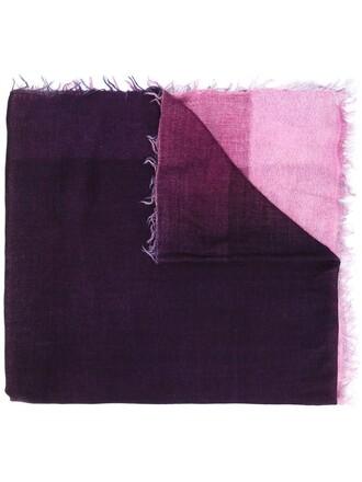 women scarf silk wool purple pink