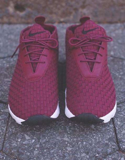 shoes nike burgundy