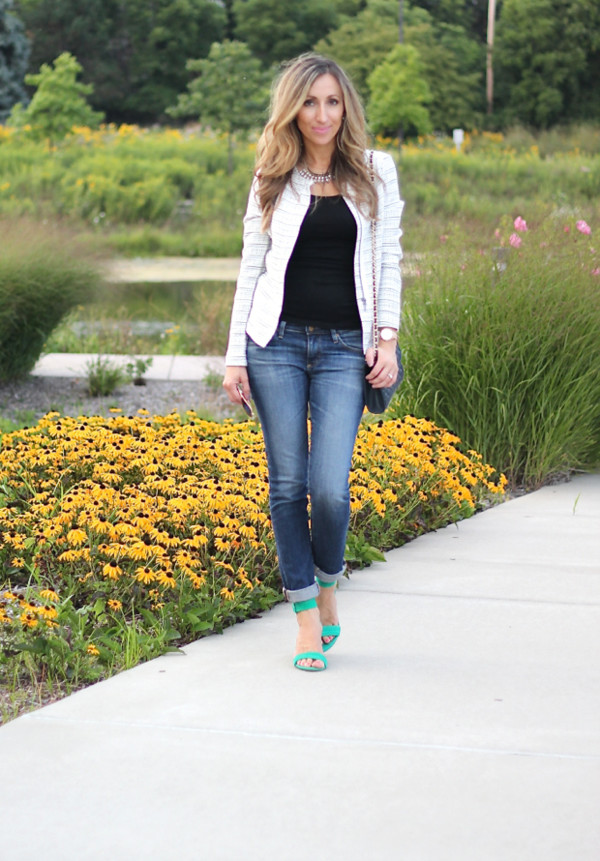 lilly's style jacket jeans shoes bag jewels