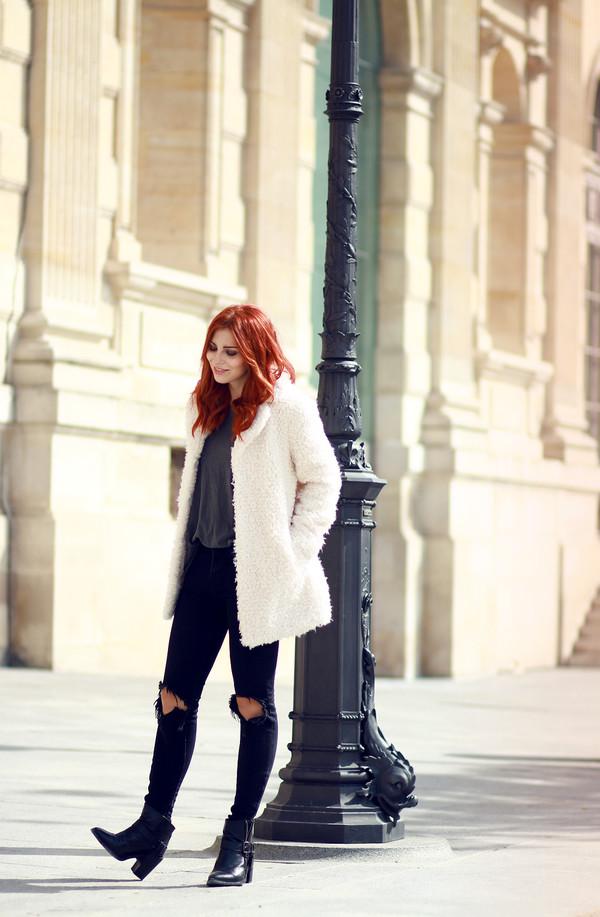 masha sedgwick blogger jeans coat shirt
