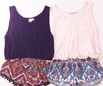 shorts tribal pattern boho pants lace shorts outfit