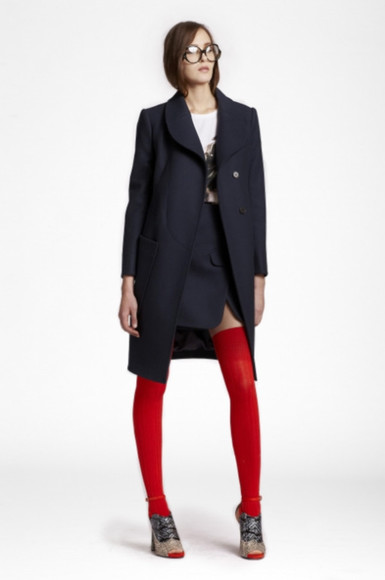 coat carven lookbook fashion skirt