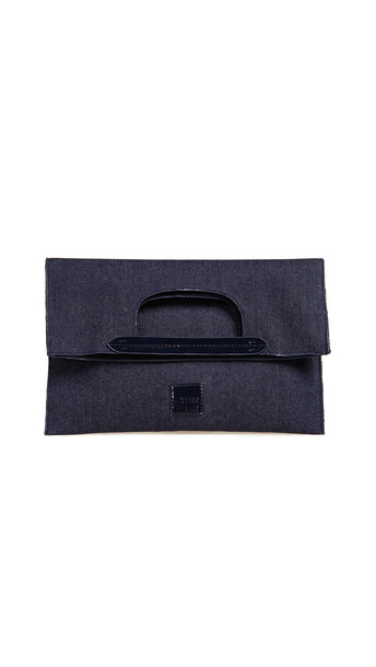 clutch denim bag