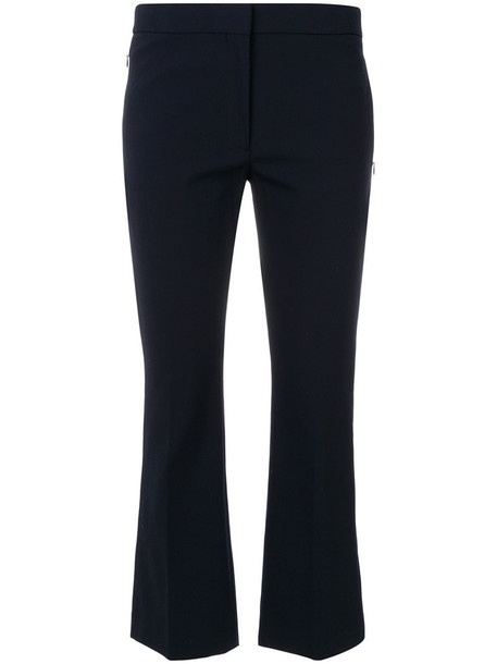 theory women spandex cotton blue pants