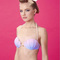 Ombre shell two-piece bikini swimsuit with pearl halter on storenvy
