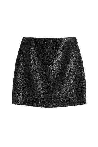 skirt mini metallic black