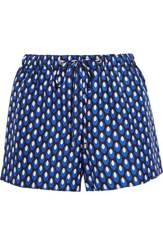 shorts silk navy