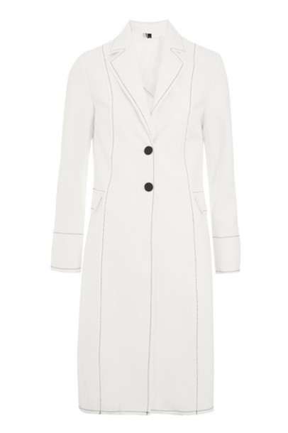 Topshop coat white