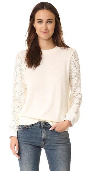 sweatshirt crochet sweater