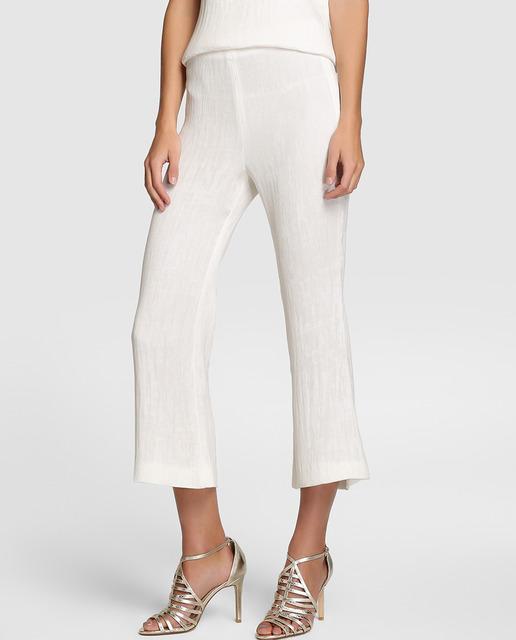 Pantalón amplio de mujer Elogy en color blanco