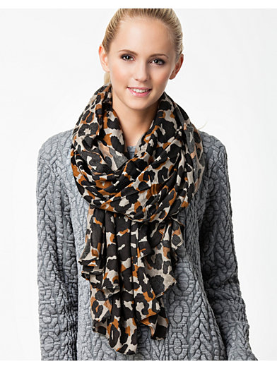 Leo Scarf - Sally&Circle - Beige - Accessories Miscellaneous - Accessories - Women - Nelly.com