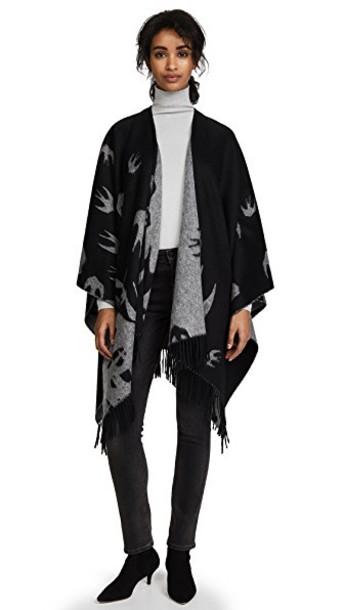 McQ - Alexander McQueen poncho black top