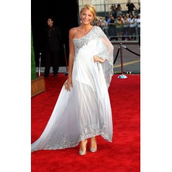 Blake lively one shoulder printed embroidery formal prom dress 2011 british academy film awards red carpet