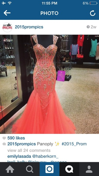 dress prom dress coral prom dress coral dress prom dresses long prom dress 2015 panoply